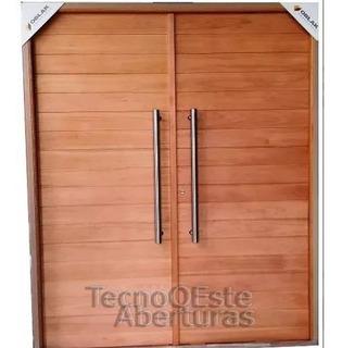 Puerta Doble Frente Madera Maciza Oblak Master Grandis 2331 160x200 Barrales Cerradura Marco Burletes Llaves