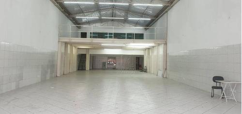 Galpão Para Alugar, 320 M² Por R$ 8.500,00/mês - Vila Príncipe De Gales - Santo André/sp - Ga0741