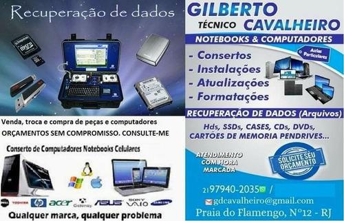 Consertos De Notebooks E Desktops. Recuperação De Dados.