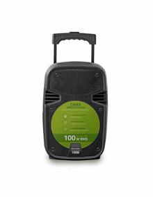 Caixa Som Amplificadora Sd Usb P2 Sp258 Microfone Sem Fio