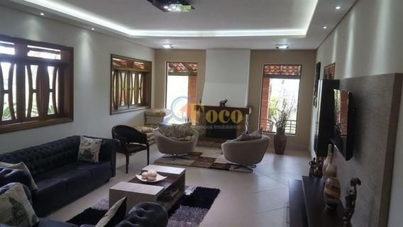 Magnífica Chácara Com 593m² De Área Construída E Fino Acabamento No Condomínio Itaembu, Itatiba/ Sp. - Ch0107