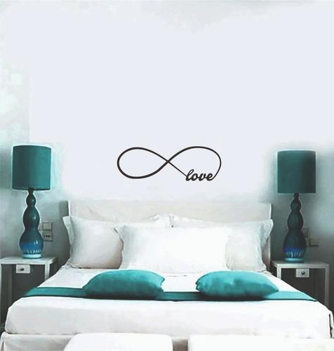 Vinilo Decorativos Frases Infinito Love Dormitorio 60 X 22cm