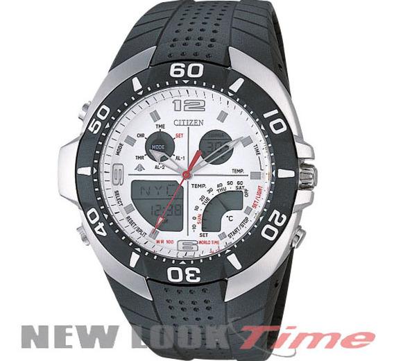 Relógio Citizen Wingman Temp Js2060-08a Borracha Fdo. Branco
