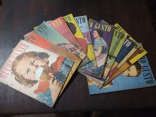 Lote Revistas Mucho Gusto 12 Números Del Año 1952 - Recetas