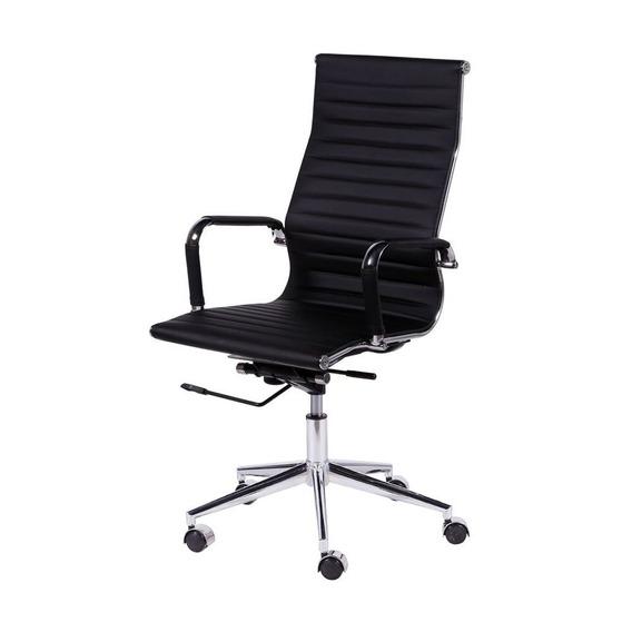 Cadeira Office Eames Esteirinha Alta Giratória Pr Or Design