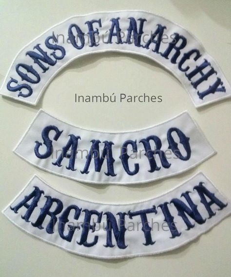Parches Sons Of Anarchy California Mc Bordados Motoclub