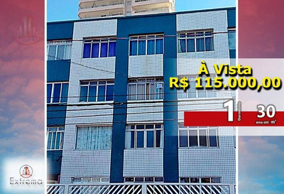 Excelente Kitnet Frente Mar, 30 M² Por R$ 115.000,00 - Vila Tupi - Praia Grande/sp - Kn0109