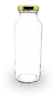 24 Botella Lecherita Jugo-tomate X 250cc Tapa Metal Souvenir