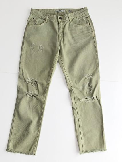 pantalon verde claro zara