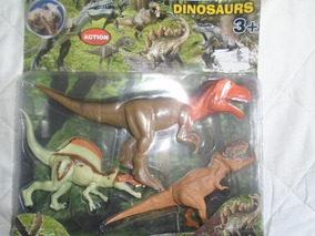 Dinosaurio De Juguete Grande Set En Blister Niños