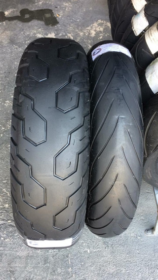 Pneus 120/70/17 E 170/80/15 Dunlop Usados Bons Shadow
