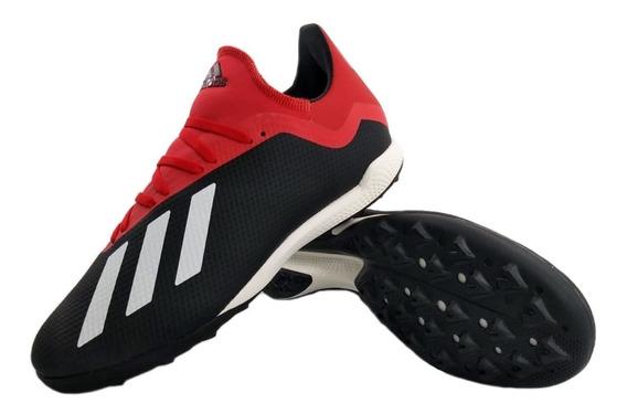 Zapatillas adidas Botines X 18.3 Tf Negro Rojo Full Eezap