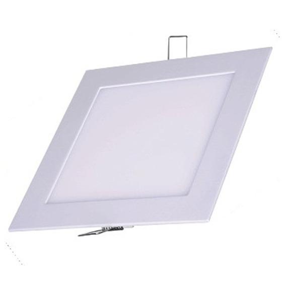Plafon Painel De Led 18w Embutir Quadrado Bivolt Branco Frio