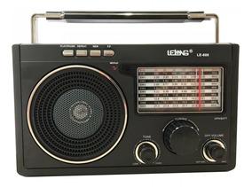 Radio Lelong Retrô Le-609 Antigo Usb Sd Recarregável