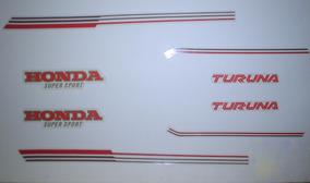 Kit Adesivos Honda Turuna 125 1981 Até 1982 Prata