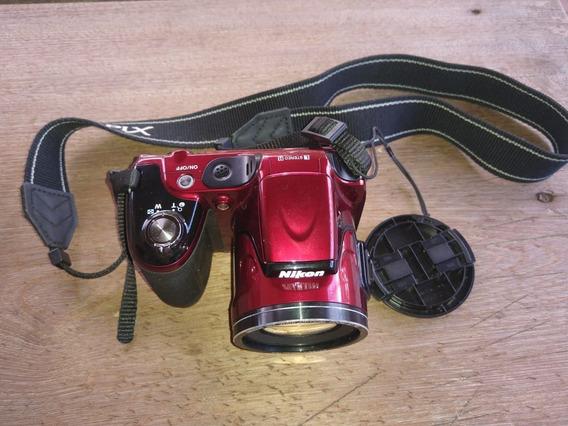 Câmera Digital Nikon Vermelha Sm