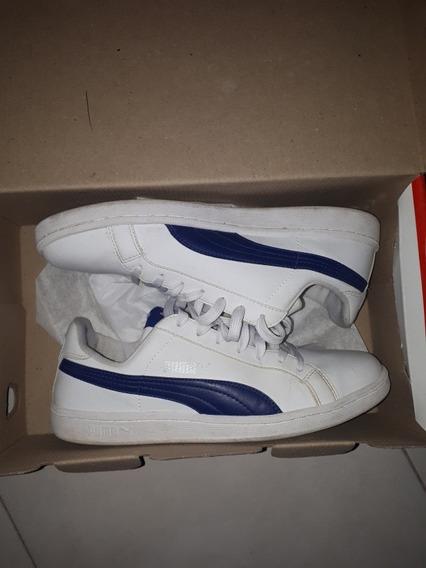 Zapatillas Puma Smash Blanca/azul