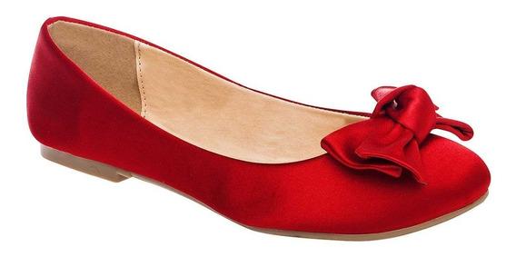 Zapato De Piso Dama Been Class 10703 Rojo 22-26 U79958 T4