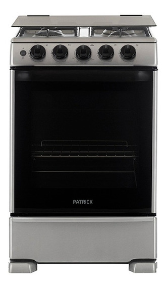 Cocina A Gas 55 Cm Inoxidable Patrick Cp9656i