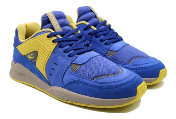 Tênis Hocks Pulsus Sneaker Azul Amarelo Original