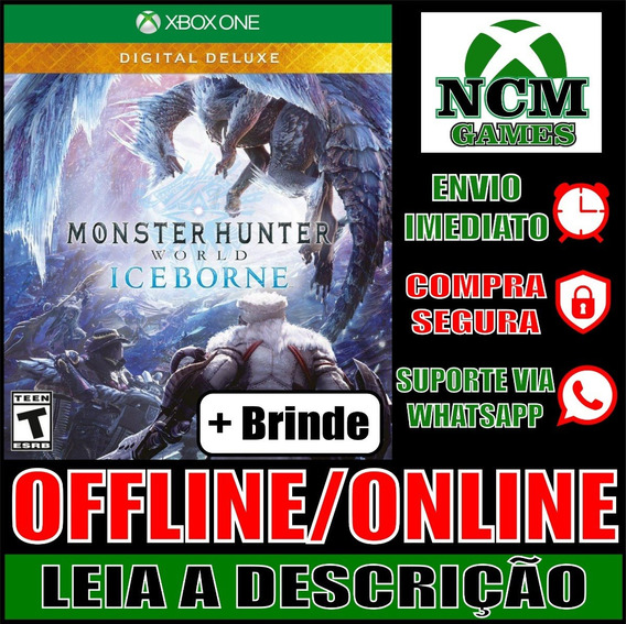 Monster Hunter W: Iceborne D Deluxe Xbox One Off/on + Brinde