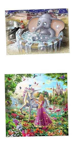 2x Diy 5d Diamante Pintura Beleza Animal Floral Needlecrafts