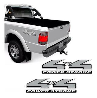 Kit Par De Adesivos 4x4 Power Stroke Ranger Modelo Original
