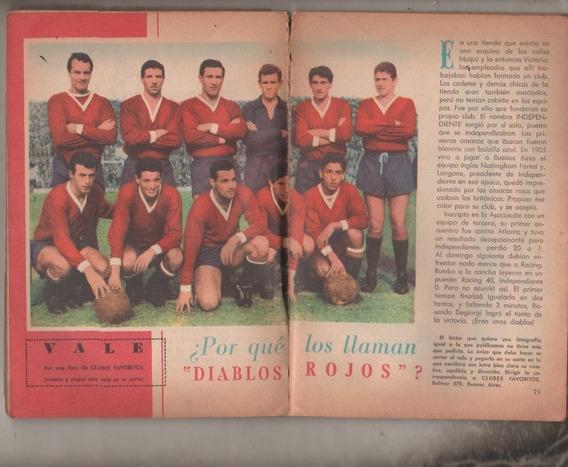 Revista Selecciones Escolares Equipo Independiente Año 1963