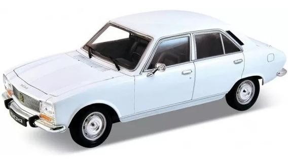 Peugeot 504 1975 Escala 1:24 Welly Blanco