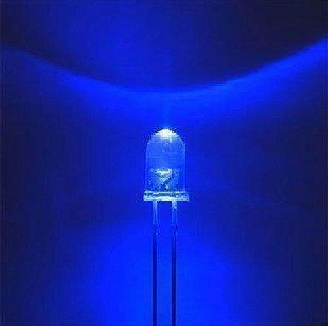 Kit 10 X Led Azul Alto Brilho 5mm Arduino Uno Mega Pic Arm