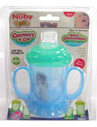 Nuby - Vaso  Anti-derrames Convertible 4 En 1, 8 Oz. / 09879
