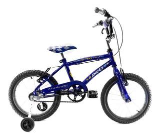Bicicleta And-es Bmx Rodado 16 Niño Con Estabilizadores