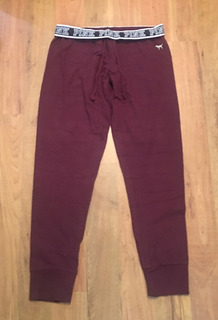 Pantalón Pants Victorias Secret Pink Wine Vino M Original!!