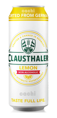 Cerveza Alemana Sin Alcohol Clausthaler Limon Lata 500ml