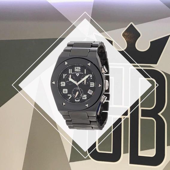 Relógio Swiss Legend 10028-bkbsa Cerâmica