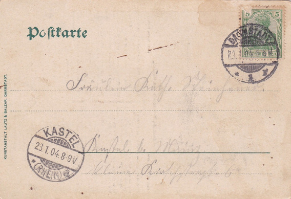 Alemania 1904 Muy Antigua Carta Postal Al104