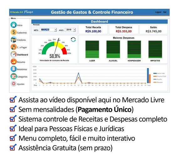 Planilha Controle De Despesas & Gestão Financeira 3.0 Plus+