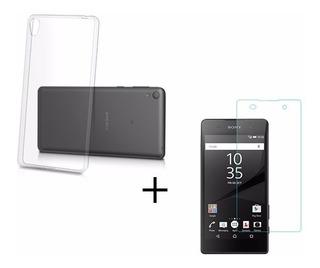 Capa Tpu Silicone Novo Sony Xperia E5 F3313 + Película Vidro