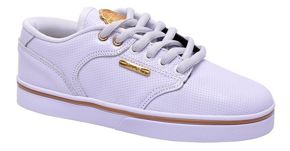 Tênis Hocks Montreal White/gold