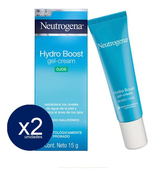 Gel Crema Neutrogena Contorno De Ojos Hydro Boost 2 Unid