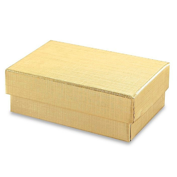 100 Cajas Color Dorado Para Aretes Joyeria Joyas