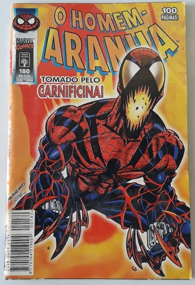 O Homem-aranha Nº 180 - 1ª Série/abril