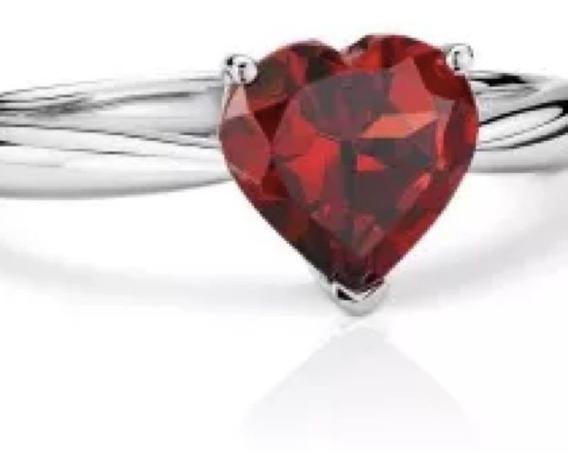 Anillo Con Diamante Corte Corazón De .50 Cts. En Oro De 14k
