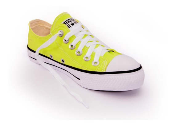 Tênis All Star Cano Baixo Chuck Taylor Ox As Hi Verde Neon