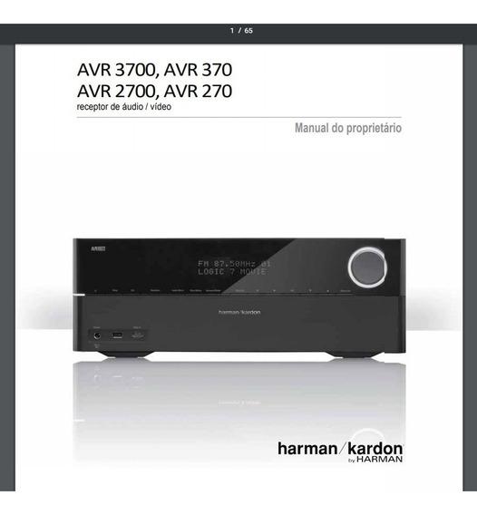 Manual Em Português Do Receiver Harman Kardon Avr-3700