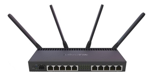 Roteador MikroTik RouterBOARD RB4011iGS+5HacQ2HnD-IN preto 1 unidade