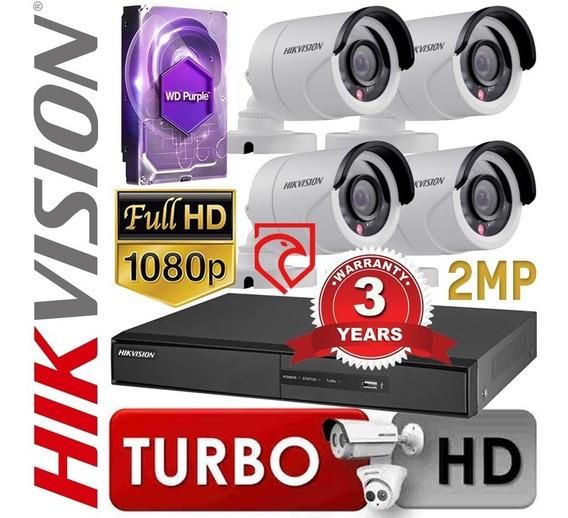 Kit Dvr 8 Hikvision + 4cam 1080p 2mp + 1tb + Cables Martinez