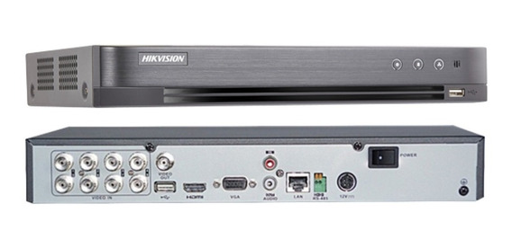Dvr Hikvision Turbo Hd 8 Canais 4.0 3 Mp Ds 7208 Hqhi-k1