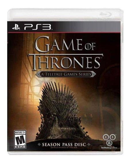 Jogo Novo Game Of Thrones A Telltale Games Series Para Ps3