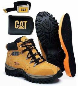 Bota Coturno Botina Caterpillar + Kit Cat Frete Grátis !